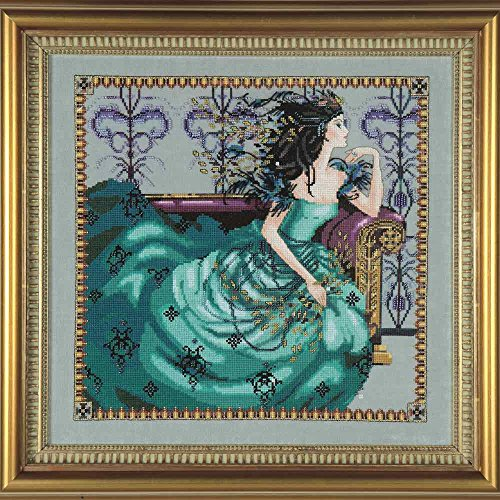(Mirabilia Cassiopeia Linen Kit Beaded Counted Cross Stitch by Nora Corbett Designs MD131 (Bundle: Chart, Fabric, Beads, Kreinik Braid, Silk Floss) )