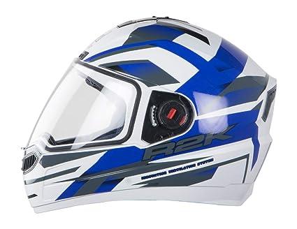 77656546 Steelbird SBA-1 R2K Full Face Graphics Helmet in Matt Finish with ...