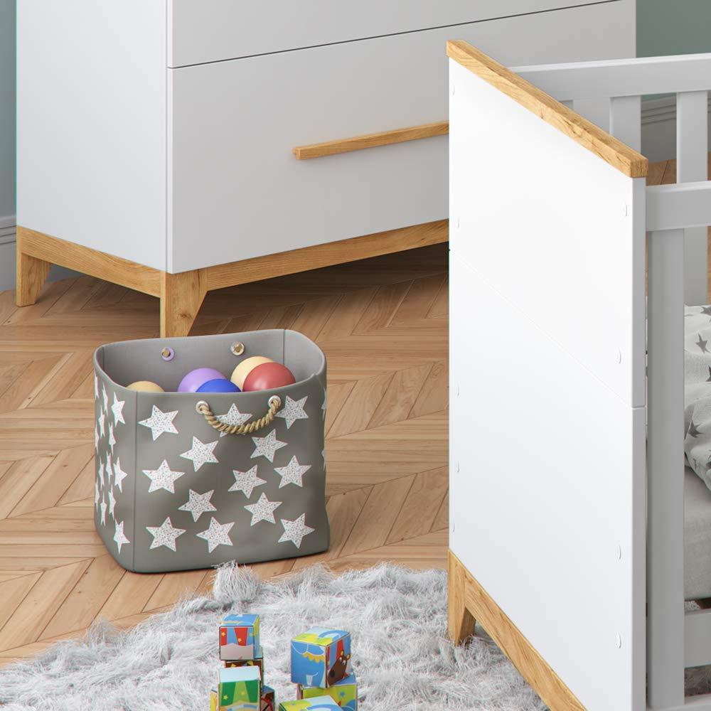 Babym/öbel Set Malia in Naturholz Kinderbett Babybett Umbaubett Kleiderschrank Wickelkommode Wandregal
