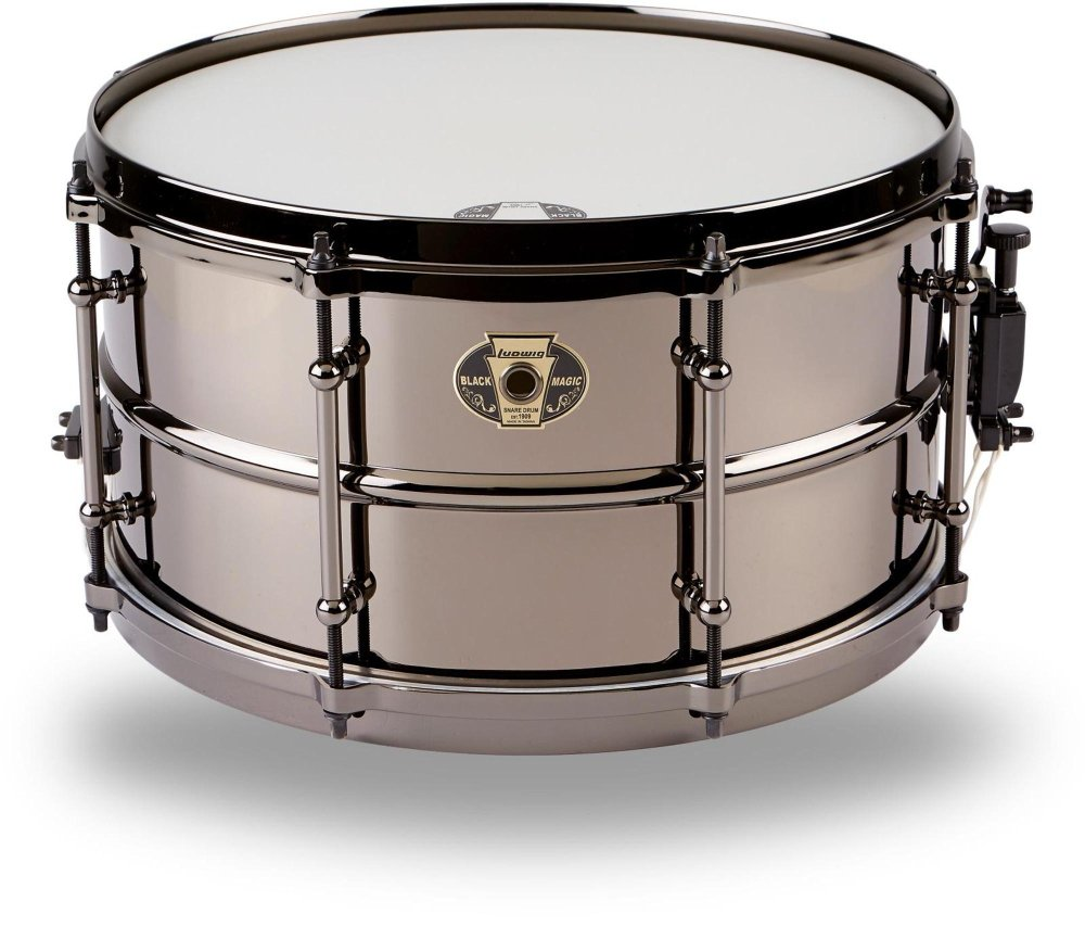 Ludwig Black Magic Snare Black 7X13 by Ludwig