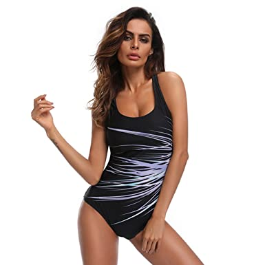 28cb4f03dc Amazon.com  Women Sexy Plus Large Size Strap Swimsuit One Piece Hollow Out  Back Backless Push-up Bathing Suit Beach Wear Bikini Swimwear  Clothing