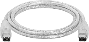 Cmple - 6FT FireWire Cable 6 Pin to 6 Pin Male to Male iLink DV Cable Firewire 400 IEEE 1394 Cord for Computer Laptop PC