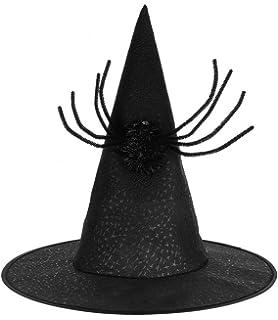 c102b543197d GEMVIE Femme Chapeau Araignée Déguisement Mascarade Sorcière Halloween Drôle