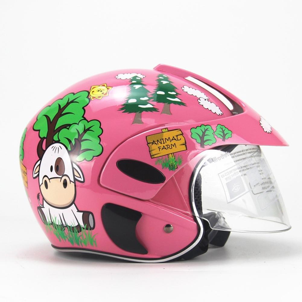 Welltobuy Casco de ni/ños de la Personalidad Motocicleta Harley bater/ía Coche Hombres y Mujeres beb/é Casco de Seguridad