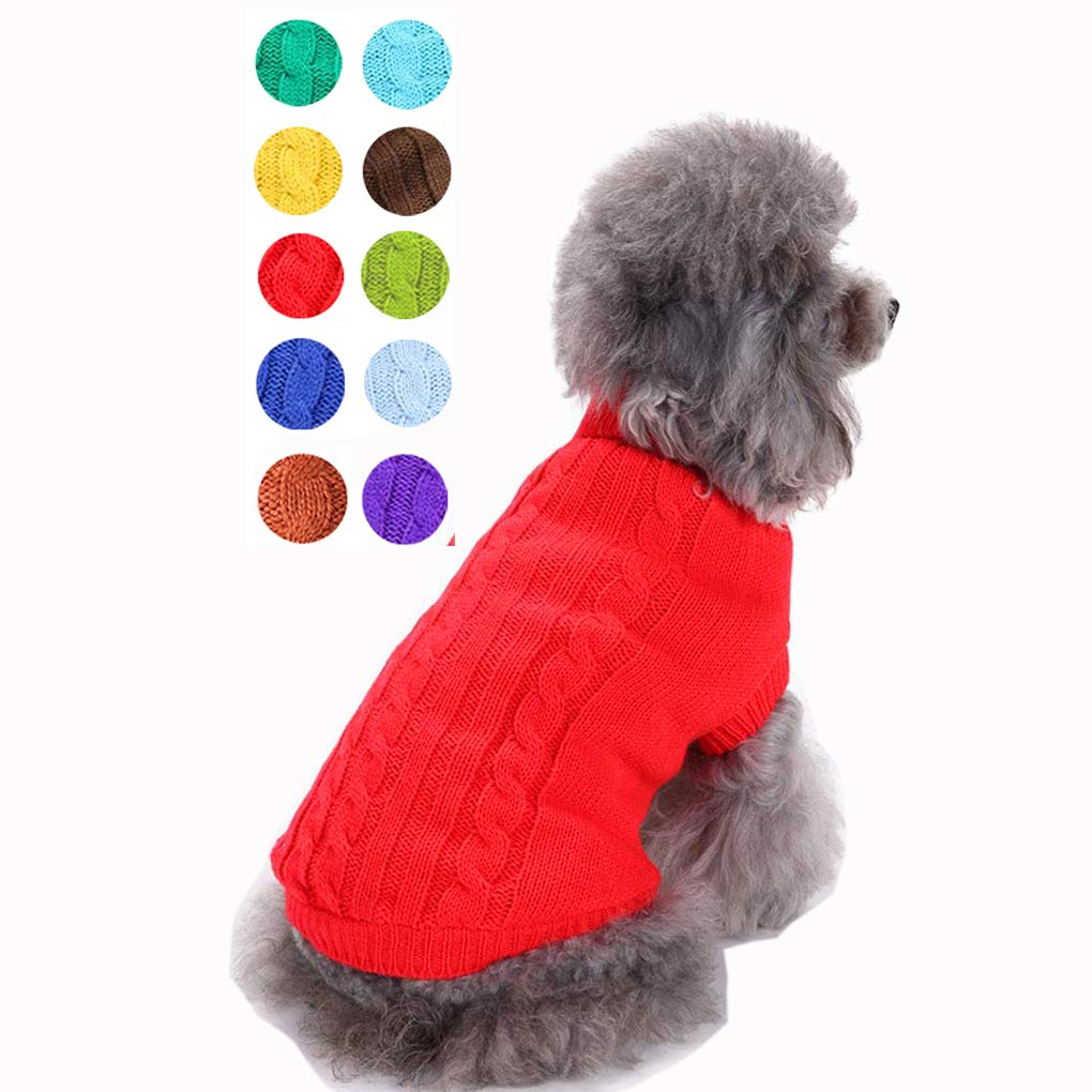 Small Dog Sweater, Warm Pet Sweater, Cute Knitted Classic Dog Sweaters for Small Dogs Girls Boys, Cat Sweater Dog…