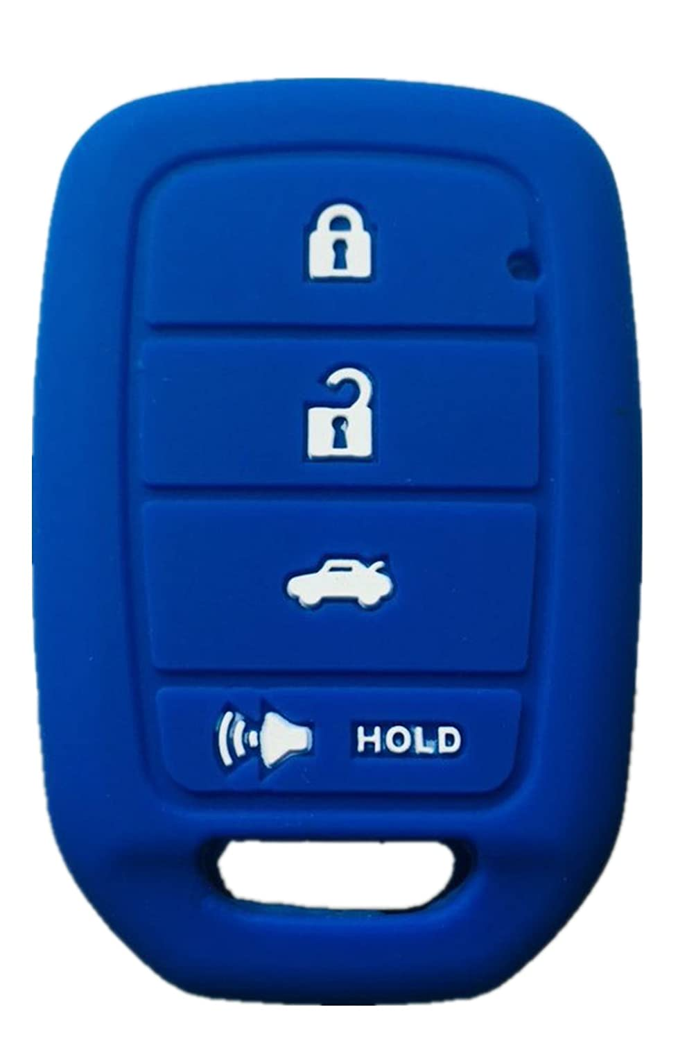 Rpkey Silicone Keyless Entry Remote Control Key Fob Cover Case protector For 2013 2014 2015 Honda Accord Civic MLBHLIK6-1T 35118-T2A-A20 ASD