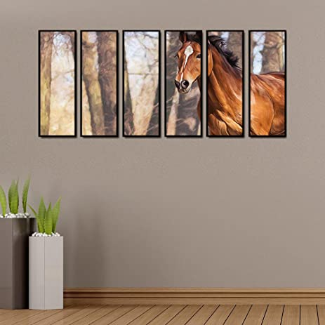 Amazon.com: 999Store multiple frames canvas printed horse in the ...