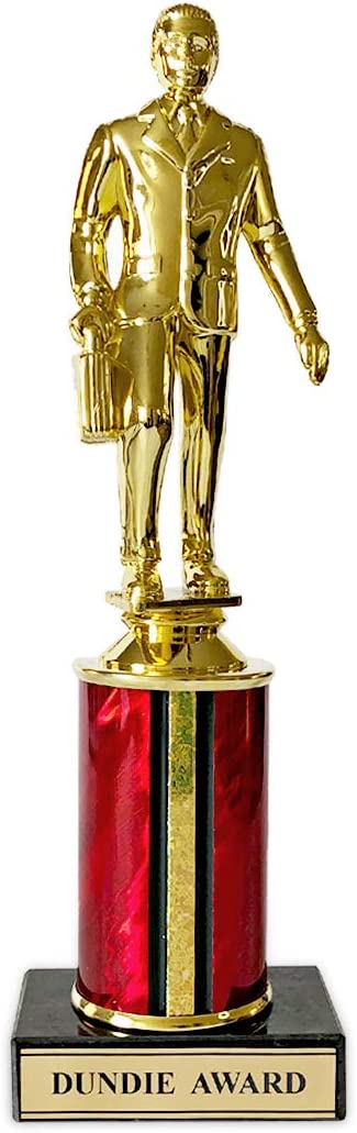 Dundie Award Trophy – The Office Merchandise – Dunder Mifflin Memorabilia Inspired by The Office (Dundie Award Will Ferrell Edition)