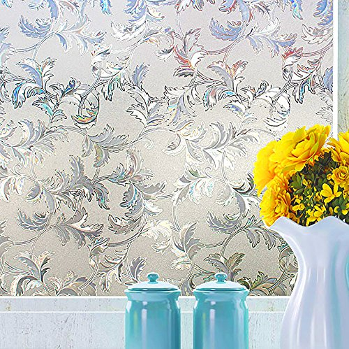 Cheap  3D Window Films Privacy Film Static Decorative Film Non-Adhesive UV Blocking Heat..