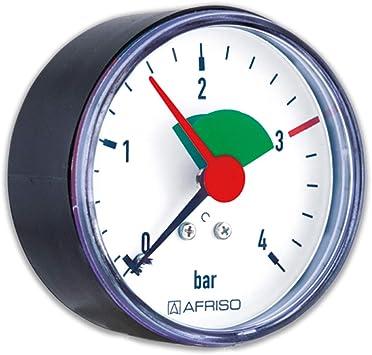 Rohrfeder Manometer Für Heizung Sanitär Axial Afriso Ø63mm Dn8 1 4 3bar Markierung Baumarkt