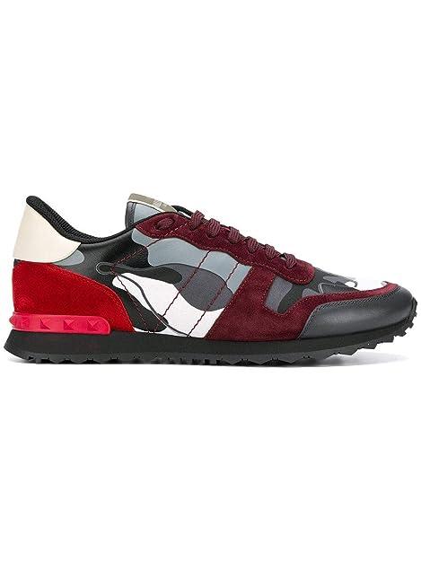 Valentino Garavani - Zapatillas para Hombre Gris/Rojo IT - Marke Größe, Color, Talla 43.5 EU: Amazon.es: Zapatos y complementos