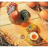Gießform Eierbecher Hahn und Kücken