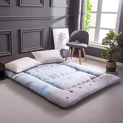 Amazon.com: Redsun Foldable Tatami Floor mat Sleeping,Thick Soft Polyester Mattress Topper Single Double Pad Japanese Bed,Student Dormitory Mattress-Flower ...