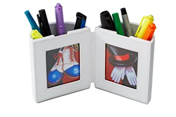 Amazoncom Pensali Pen And Pencil Holder With Picture Frame Space