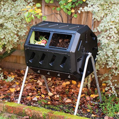 FCMP Outdoor IM4000 Tumbling Composter, 37 gallon Black by FCMP Outdoor