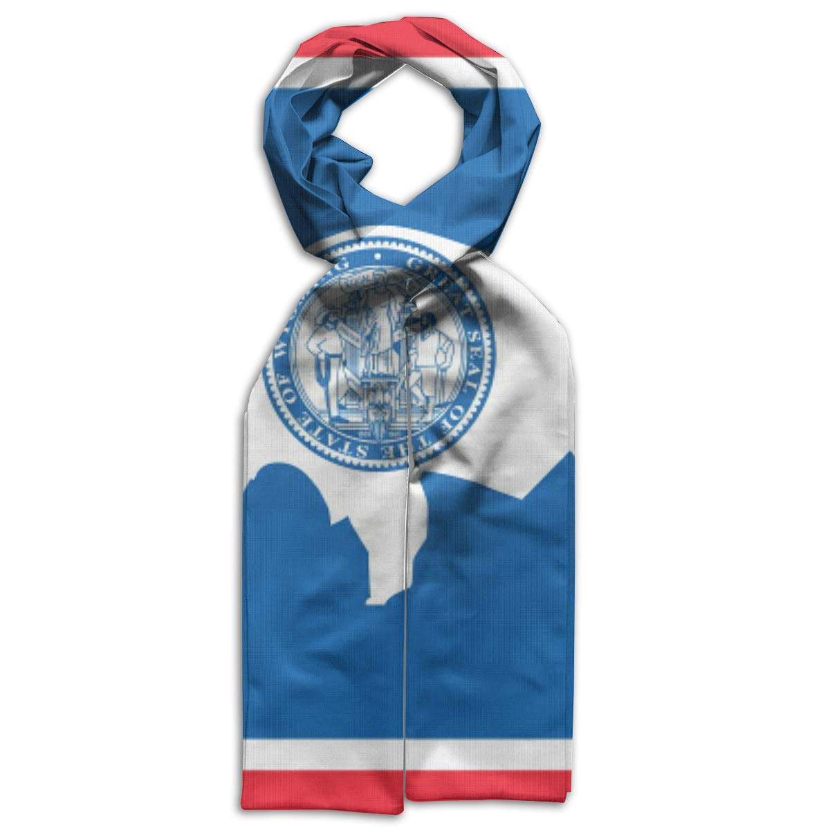 Wyoming Flag Kids Printed Scarf Comfortable Winter Infinity Scarf Warmer Travel Scarf For Kids Perfect Birthday Gift