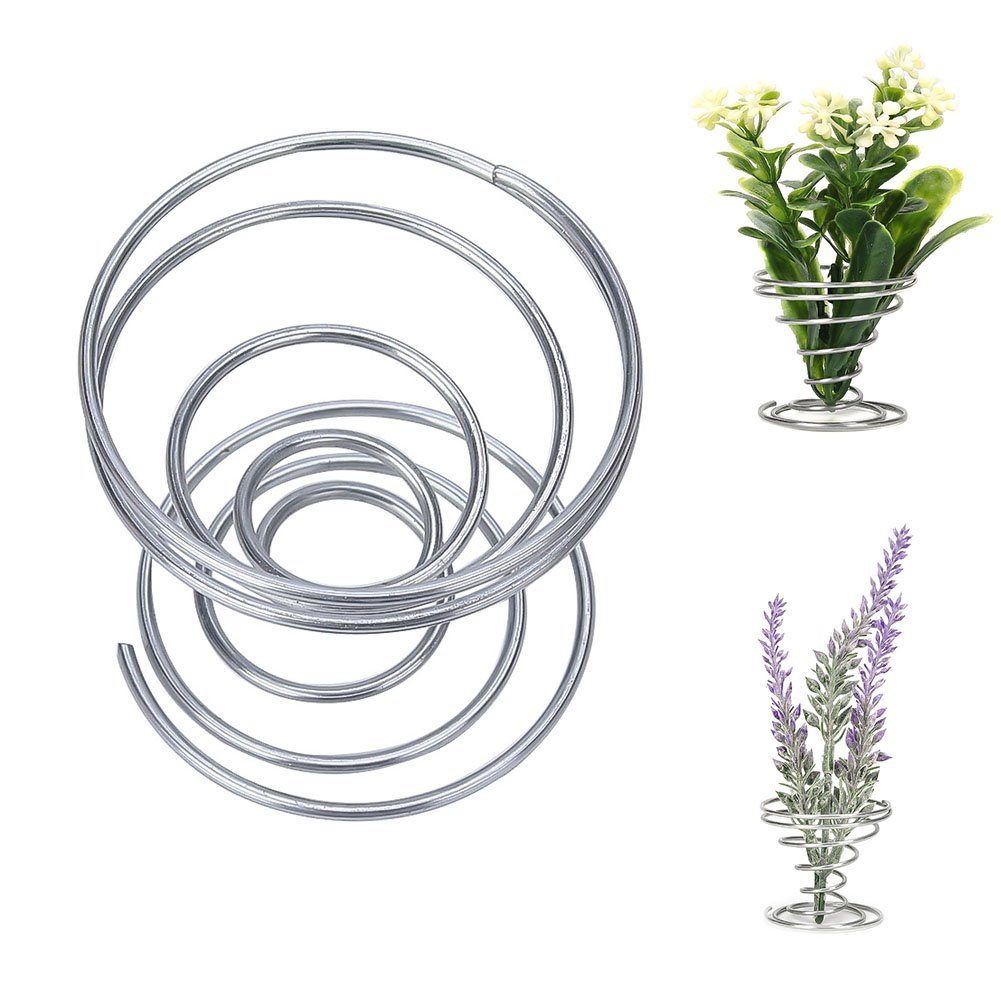 ESYLIFE Glass Air Plant Vase Holder with Stand Set of 2