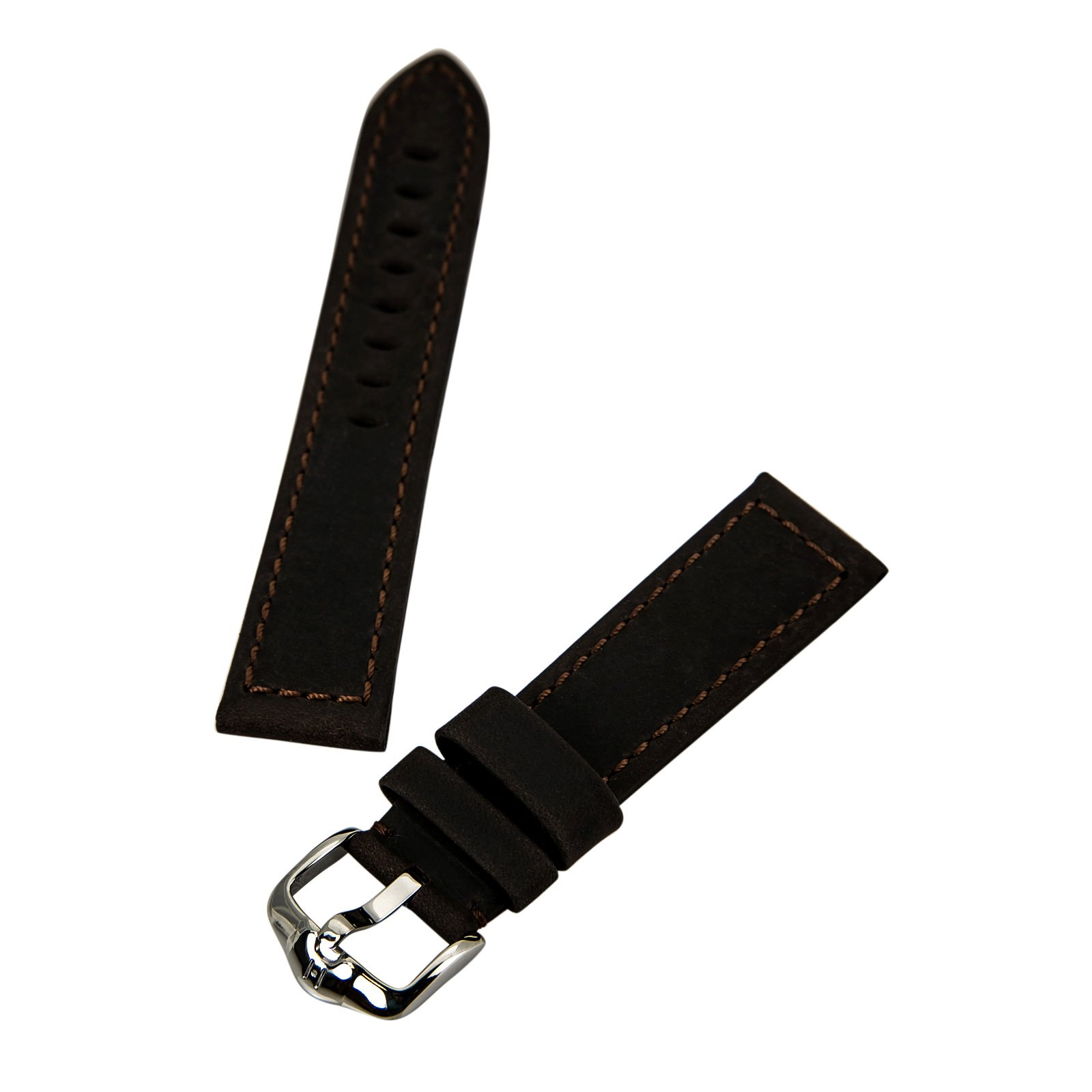 Hirsch 046330-10-22 22 -mm  Genuine Leather Watch Strap