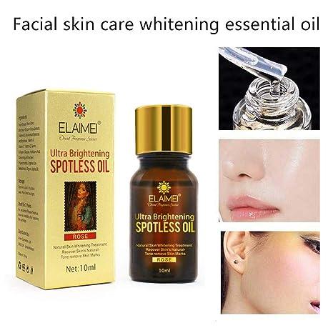 Aceite para blanquear la piel