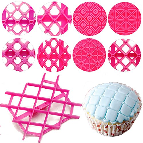 Cupcake Cake Embosser Cutter Fondant Tool Mould Cookie Sugarcraft Mold Icing Stamp Decorating Biscuit Press (Halloween Costumes For Work Groups)