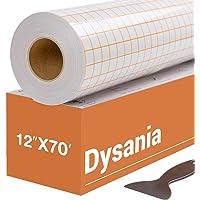 """HTVRONT Transfer Tape for Vinyl - 12"""" x 70 FT w/Orange Alignment Grid for Adhesive Vinyl - Medium Tack Vinyl Transfer…"""