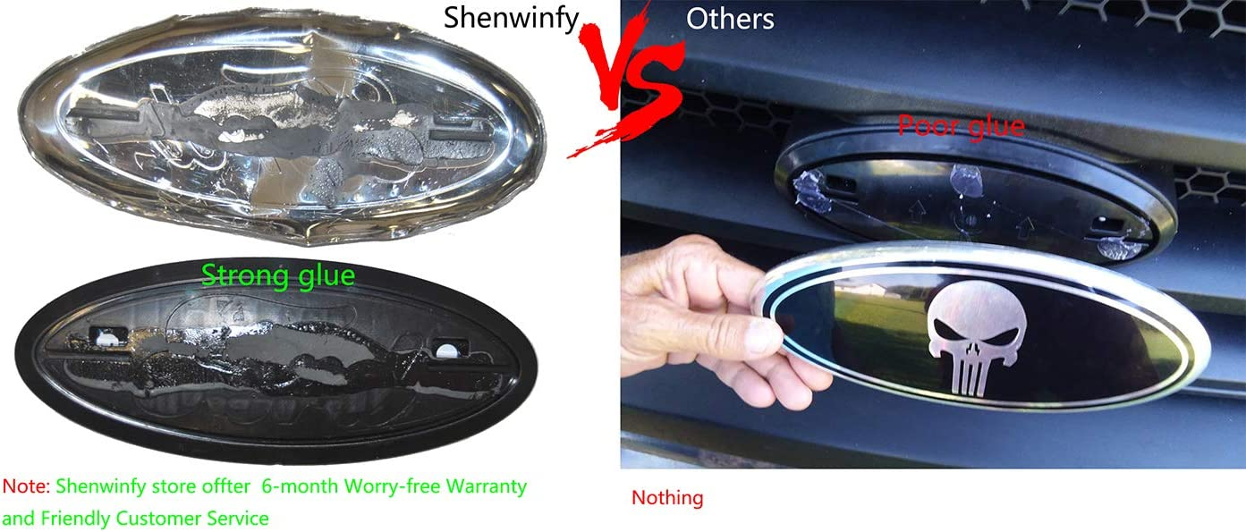 11-16 Explorer Shenwinfy Punisher Emblem for Ford 04-14 F150 Front Grille Rear Tailgate 07-14 Expedition 9 Inch Oval Badge Fits 11-14 Edge 06-11 Ranger