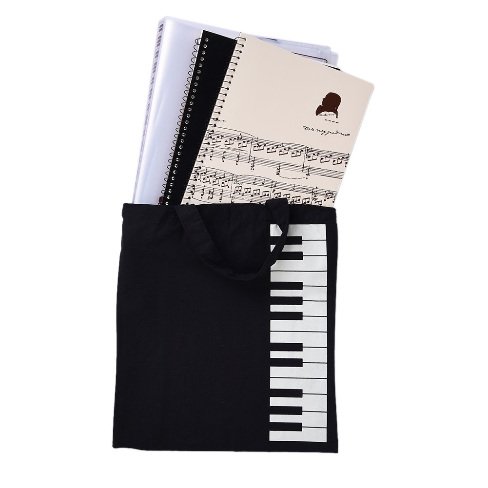 Music Score Bag Portable Cotton Linen Keyboard Pattern for Holding Music Score/Musical Instruments Appliance eronde