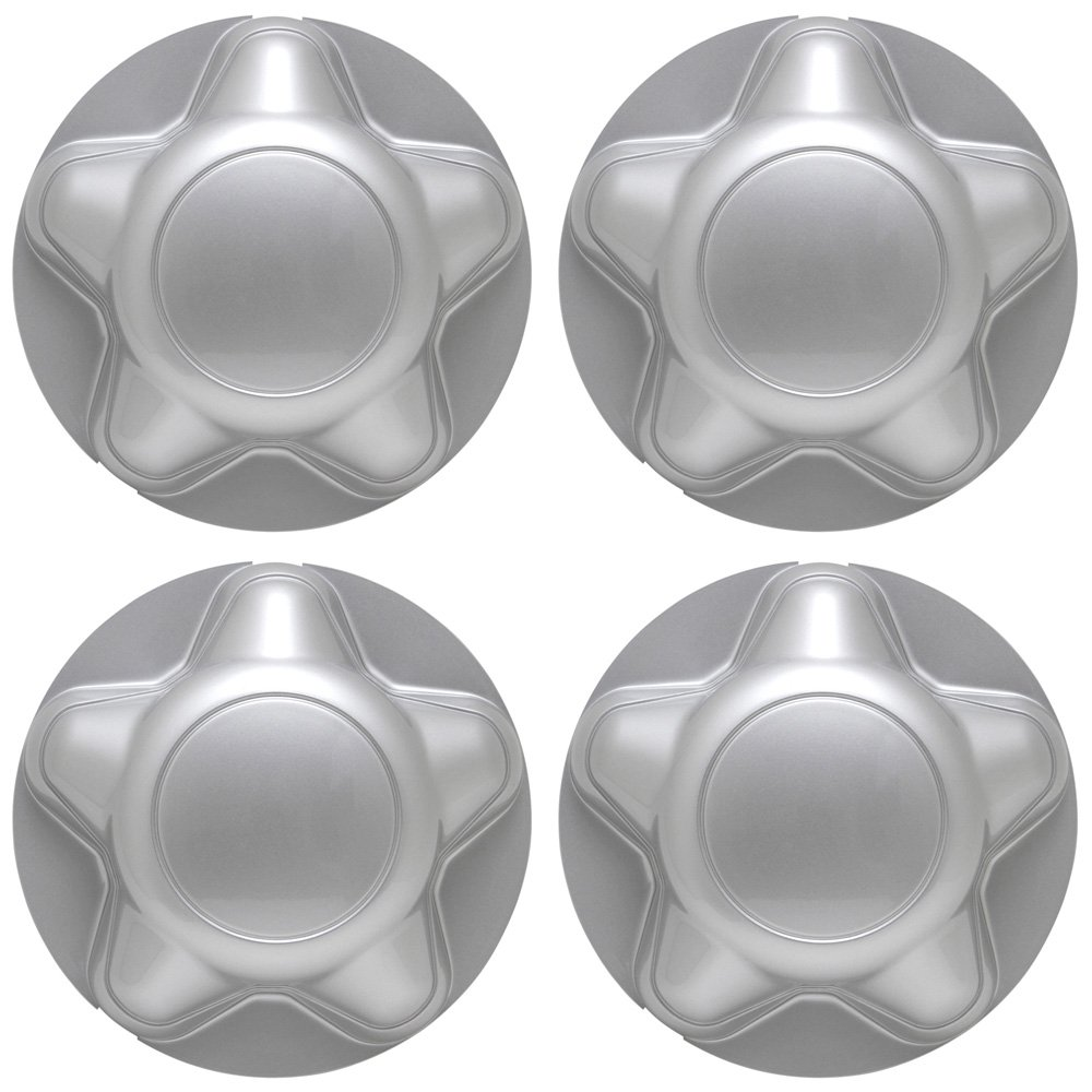 OxGord Center Caps for Select Ford Lincoln Trucks Van SUV Silver (Set of 4) 16 and 17 inch Wheel Cover WCCC-1285-SL