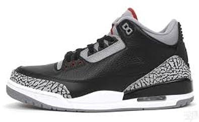 competitive price fbc93 f4f77 Amazon.com | Nike Air Jordan 3 Black Cement Retro Size 11 ...
