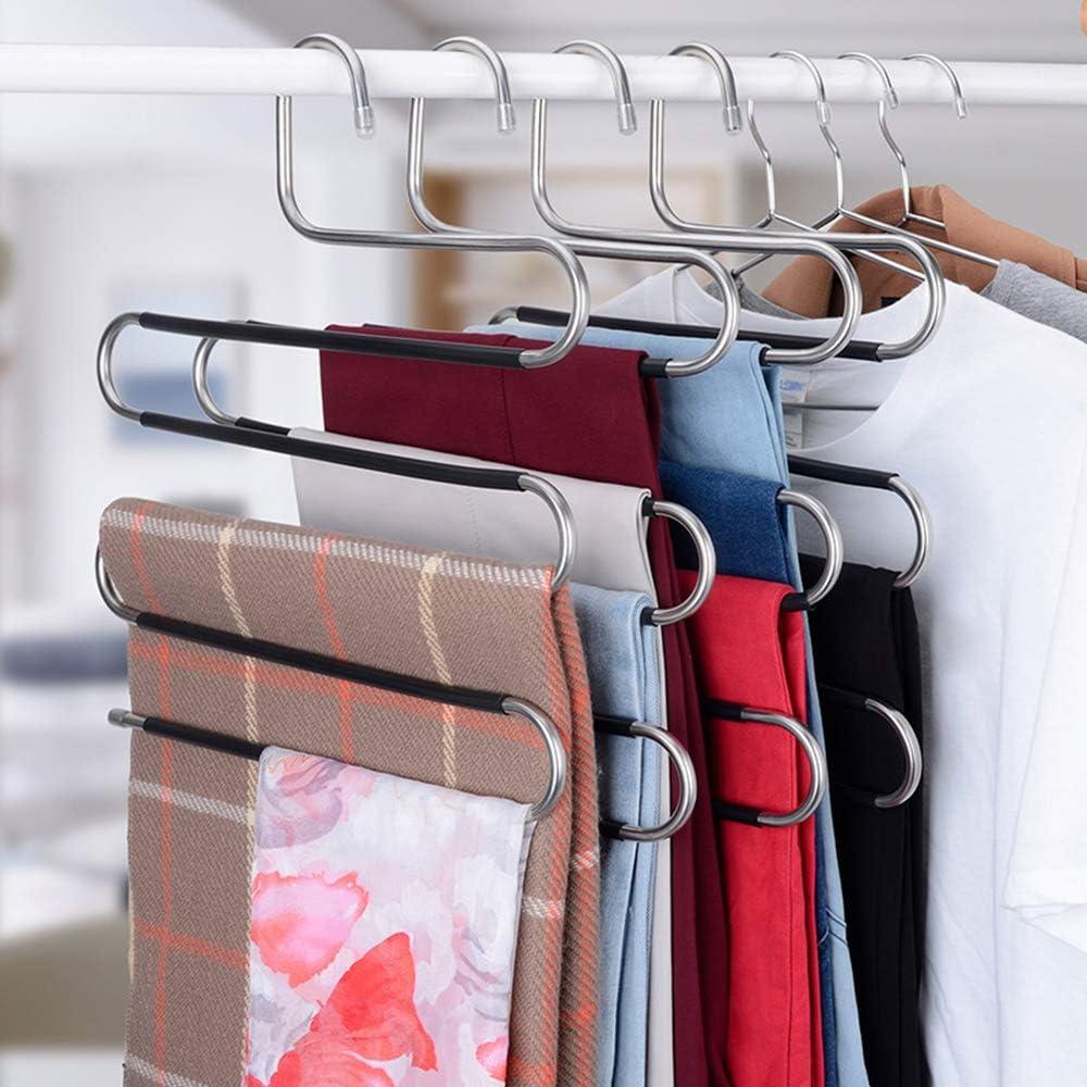 Appendiabiti Tipo S Copertura in Silicone Antiscivolo per Abbigliamento Gancio per Pantaloni 1 Confezione Appendiabiti Salvaspazio Verdelife Appendiabiti Tipo S