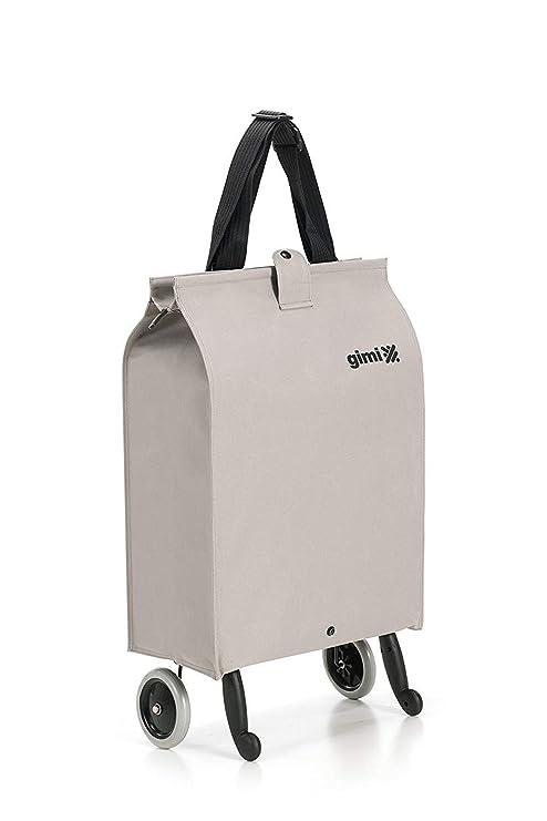 Gimi Brava Plus- Carro de la compra, con 2 ruedas, bolsa impermeable de