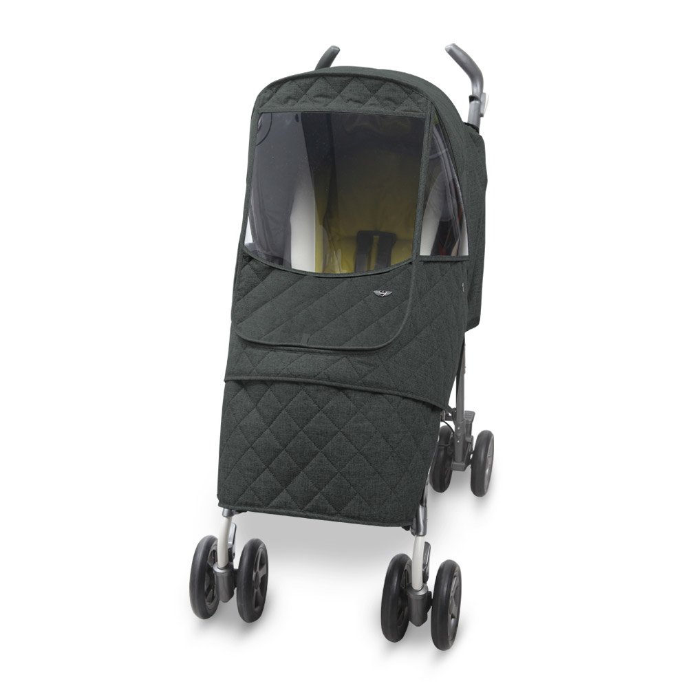 [Manito] Melange Padding Alpha Cover / Cover for Baby Stroller and Pushchair, Premium Padding Winter Weather Shield / For basic type strollers (Herringbone_khaki grey) Totalkids