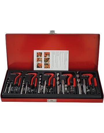 CCLIFE Juego de reparación de roscas 131 piezas M5 M6 M8 M10 M12 kit reparacion roscas