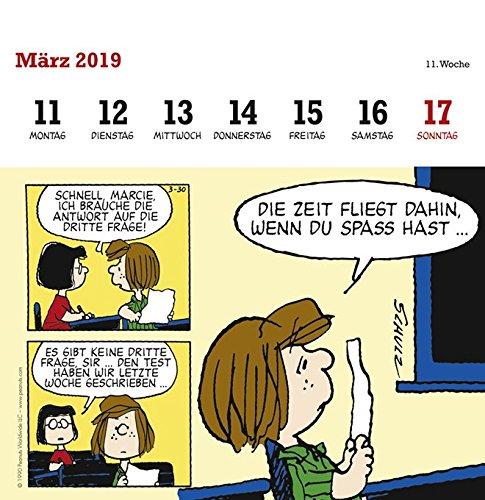 Peanuts Aufstell Postkartenkalender Kalender 2019 Amazon