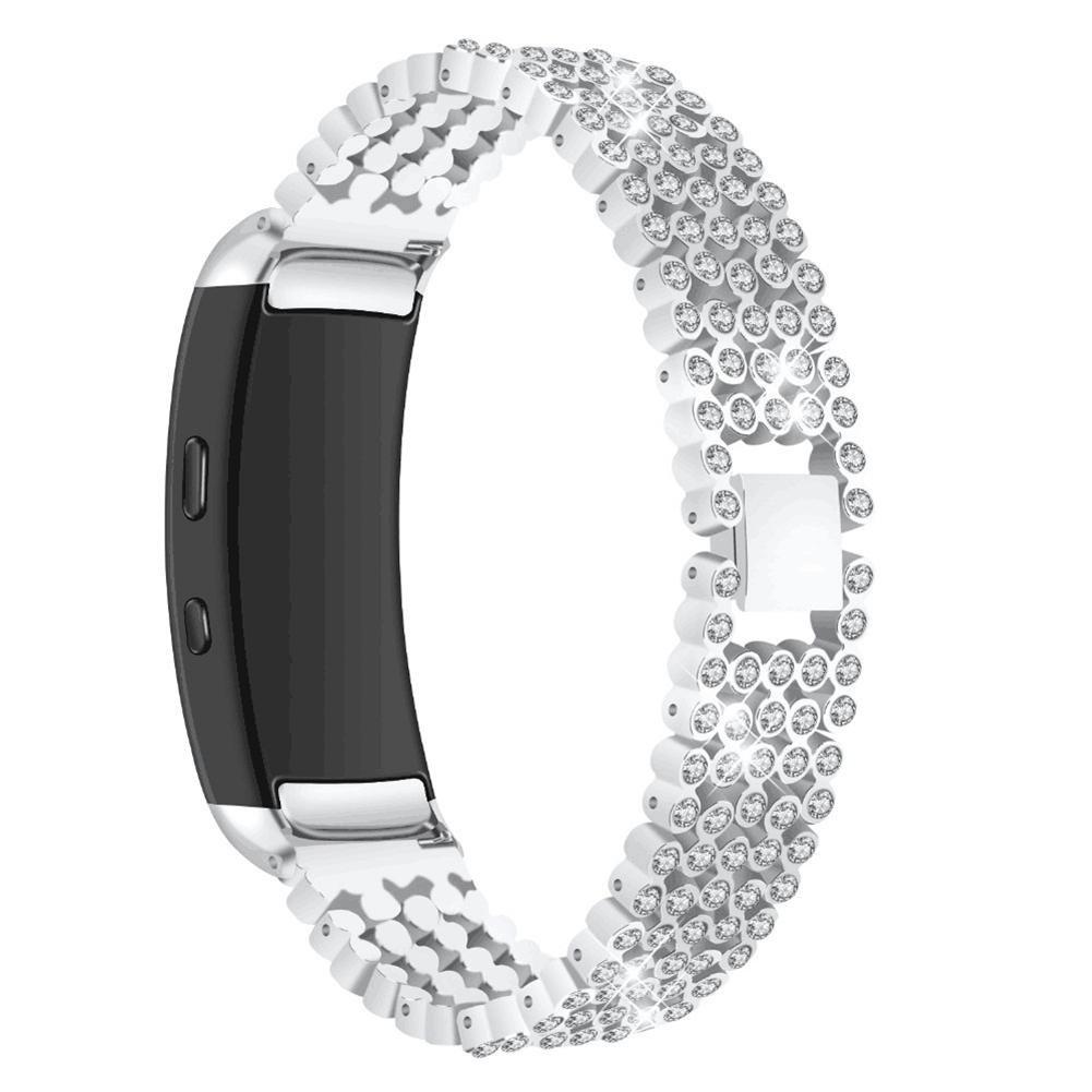 VOVI Replacement Band For Samsung Gear Fit2 SM-360 Strap with Crystal Rhinestone Diamond Stainless Steel Metal Bracelet Accessories Wrist Band with Hook Buckle for Women Girl Girlfriend