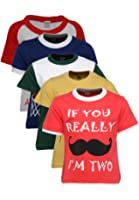 Goodway Boys Pack of 5 Attitude Theme Printed T-shirts(JB5PCKATT-3_MultiColor)