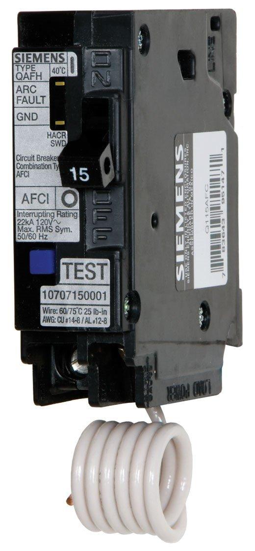 Siemens QA120AFC 20 Amp Combination Arc Fault Breaker
