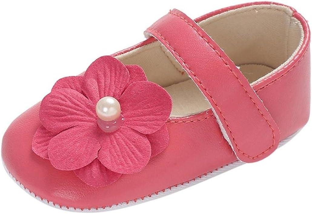 Efaster Summer Newborn Toddler Baby Kids Girls Flowers Soft Sole Crib Shoes