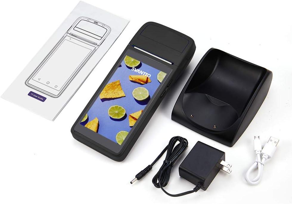 avec Base de Chargement Imprimante Thermique 58mm Android 6.0 5.0 Pouces 3G PDA Terminal avec /écran Tactile Bluetooth NFC WiFi Bluetooth