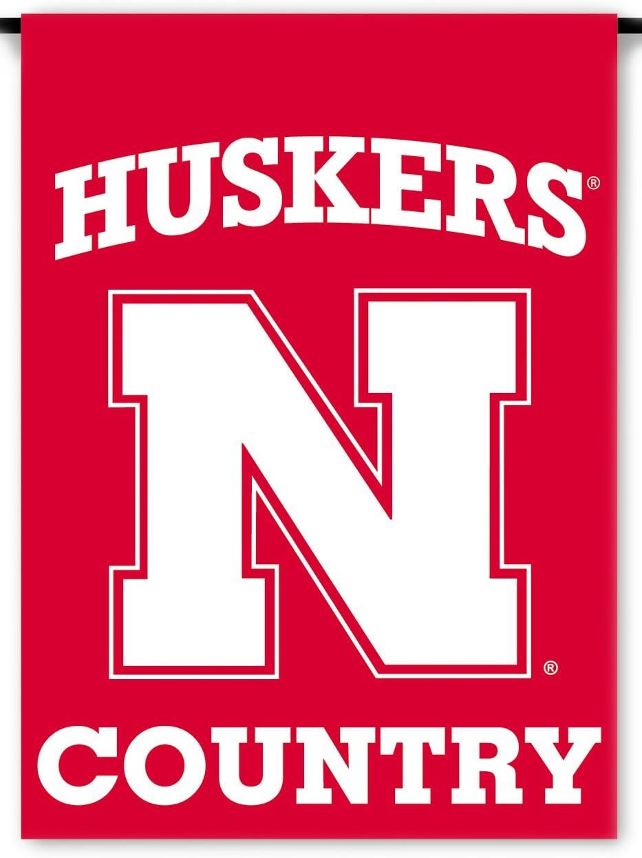 NCAA Nebraska Cornhuskers 2-Sided Country Garden Flag, Team Color