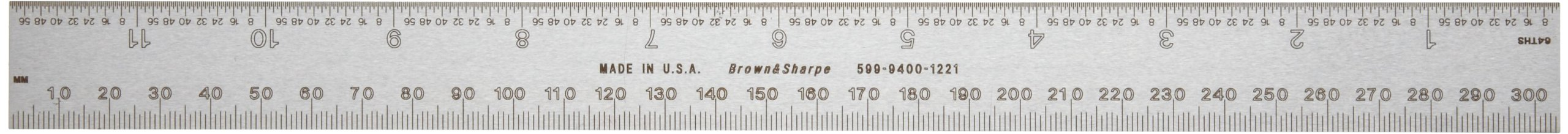 Brown & Sharpe 599-9400-1221 300mm Polished Combination Square Blade