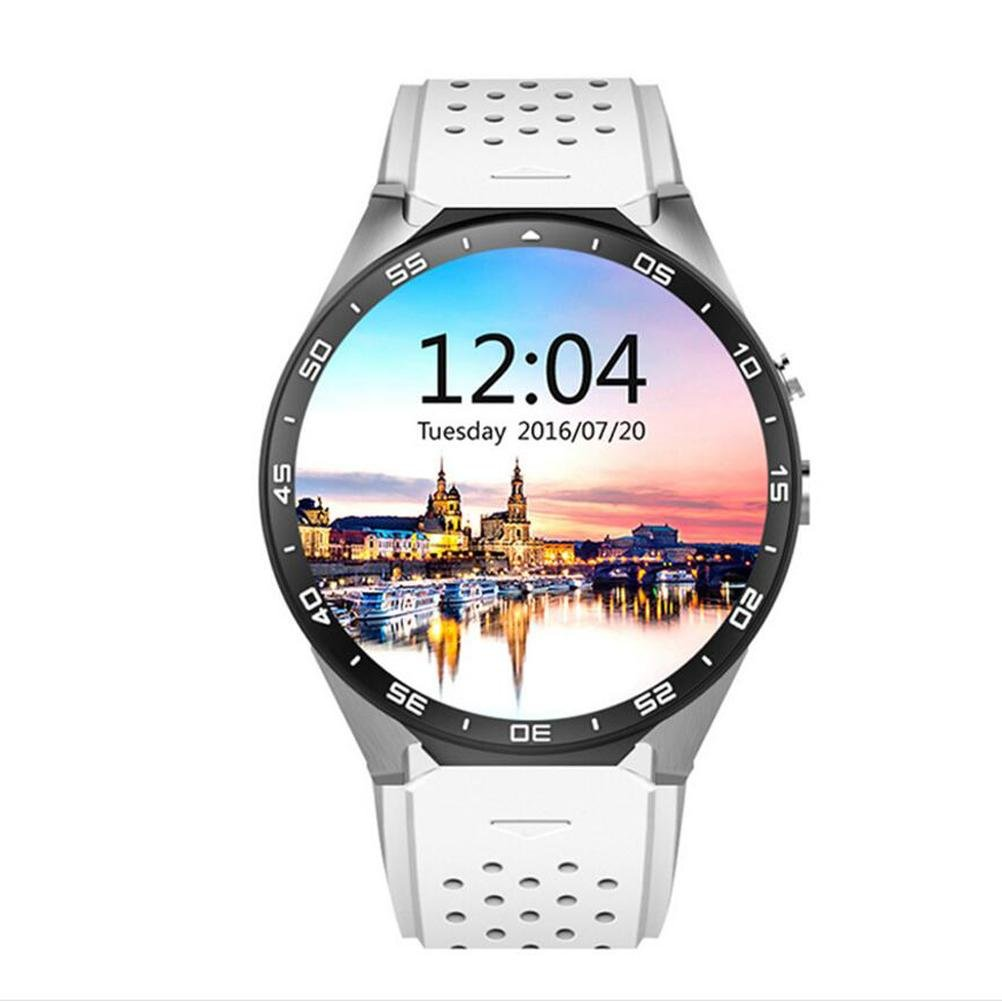 L@YC 2017 New Quad-Core Watch Mobile Phone WIFI Heart Rate Meter Weather Forecast GPS Positioning Watches , white by L@YC