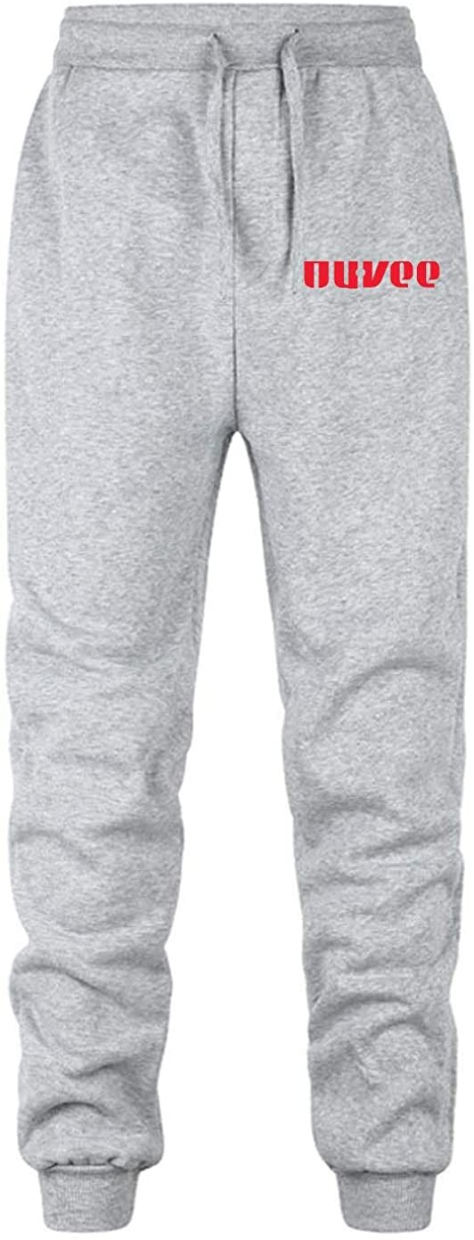 Hy-Vee Food Stores Men's Elastic-Waist Drawstring Sweater Pants for Sport Exercise Travel