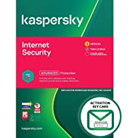 Kaspersky Internet Security 2021 | 3 Devices | 2 Years | PC/Mac/Android | Activation Key Card by Post Mail | Antivirus…