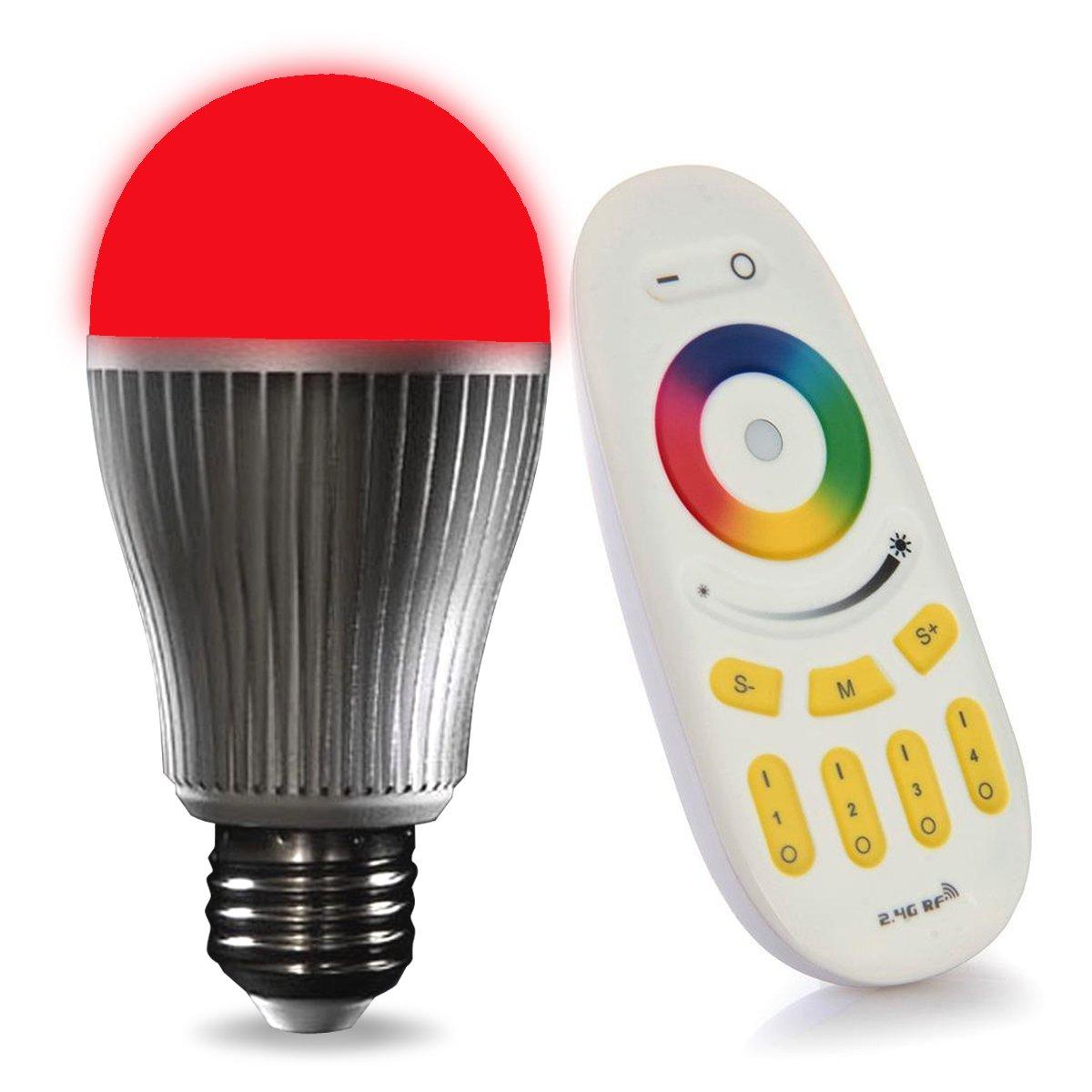 LIGHTEU 1x WLAN LED Lampe original, 9 W, E27, dimmbar, Farbwechsel ...