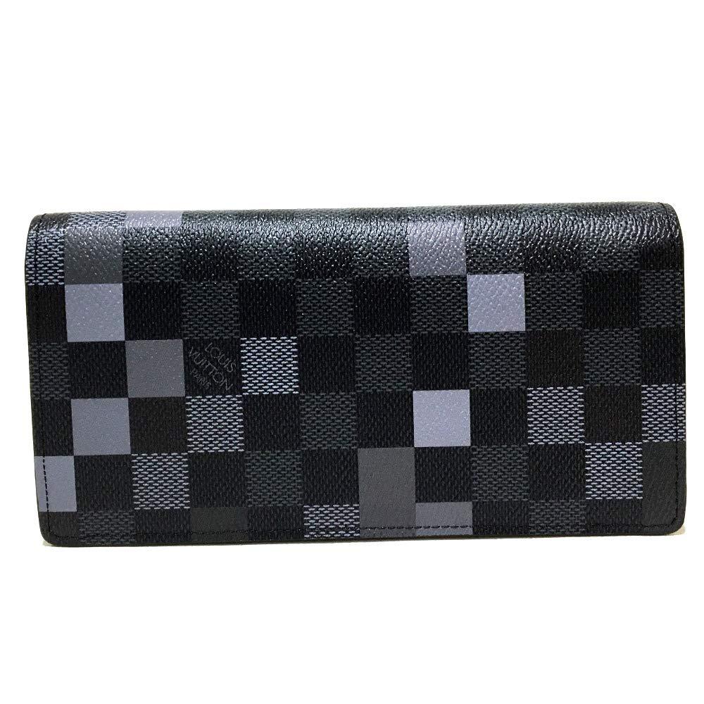 (ルイヴィトン)LOUIS VUITTON N60163 ポルトフォイユブラザ ダミエグラフィット ピクセル 2つ折り 長財布(小銭入れあり) ダミエグラフィット キャンバス メンズ 新品 B07MLH6WBD