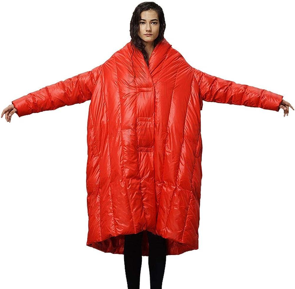 YZ-HOD Manteau en Duvet Femme Longue Section personnalité sur Le Genou épaisse Robe Chaude en Duvet Red