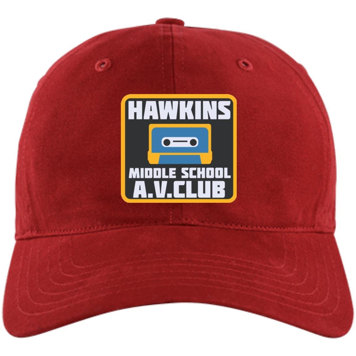 b2ad2c8c810 Amazon.com  Hawkins Middle School AV Club Premium Baseball Hat Cap (Premium  Cap