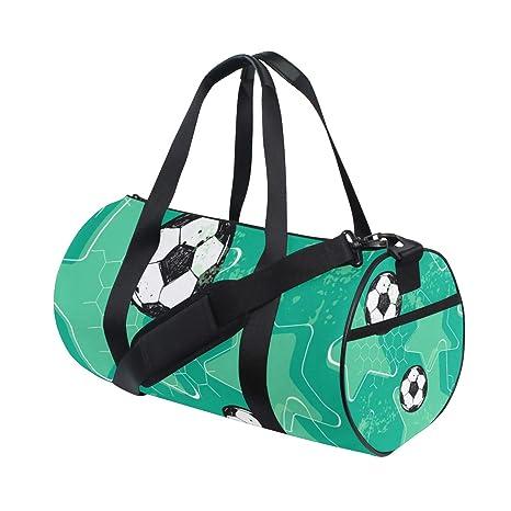 ZOMOY Bolsa de Deporte,Balón de fútbol de patrón de fútbol ...