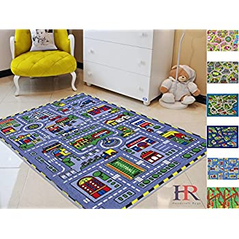 Well-known Amazon.com: Learning Carpets Race Track Play Carpet: Toys & Games QN26